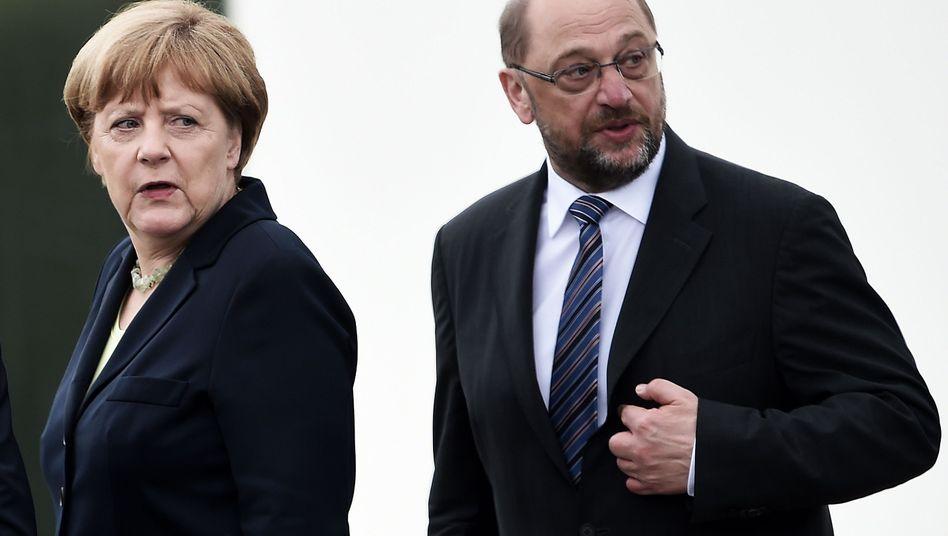 Kanzlerin Angela Merkel, Herausforderer Martin Schulz