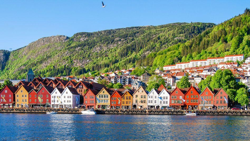 Bergen, Stadtansicht: 9000 Kreuzfahrttouristen am Tag