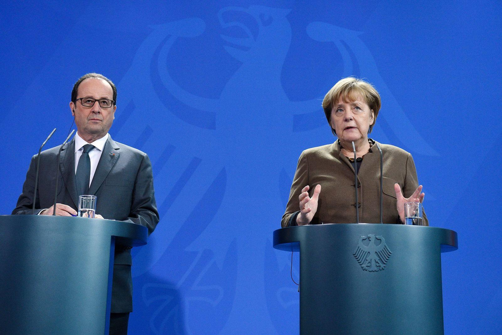 Angela Merkel Francois Hollande