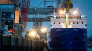 Castor-Transportschiff legt in Nordenham an