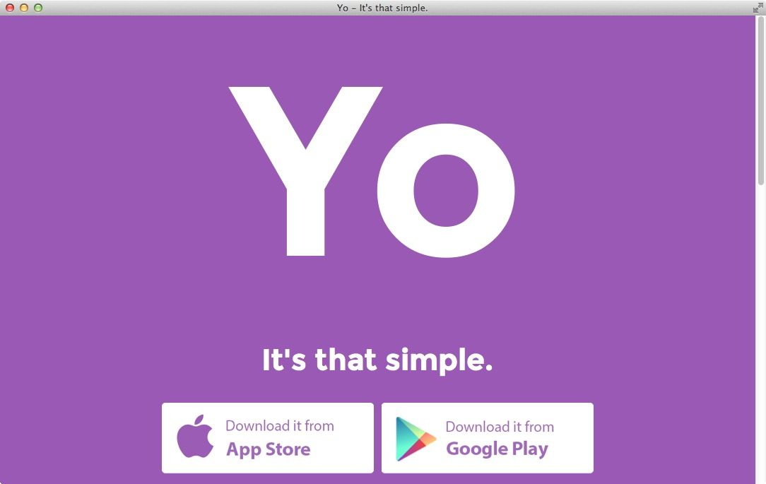 NUR ALS ZITAT Screenshot Yo App