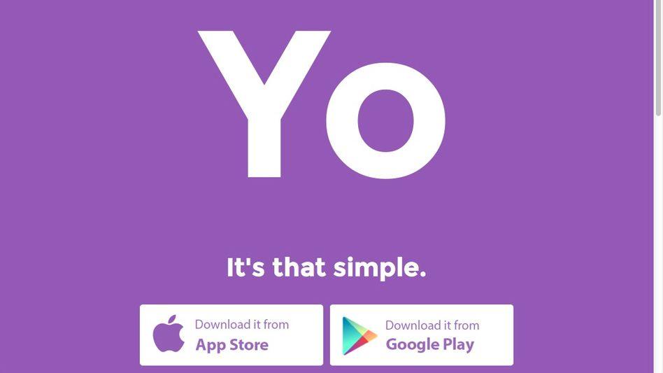 Logo des Yo-Apps: Das einzige Wort, das funktioniert