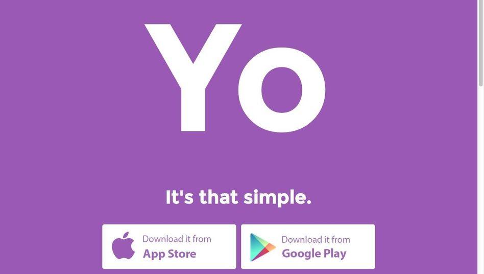 Yo-Website: App mit 50.000 Nutzern, die sich mehrere Millionen Yos geschickt haben