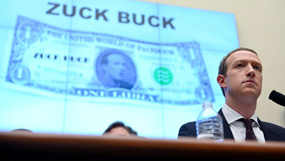 Facebook-Chef Mark Zuckerberg bei einer Anhörung im US-Repräsentantenhaus