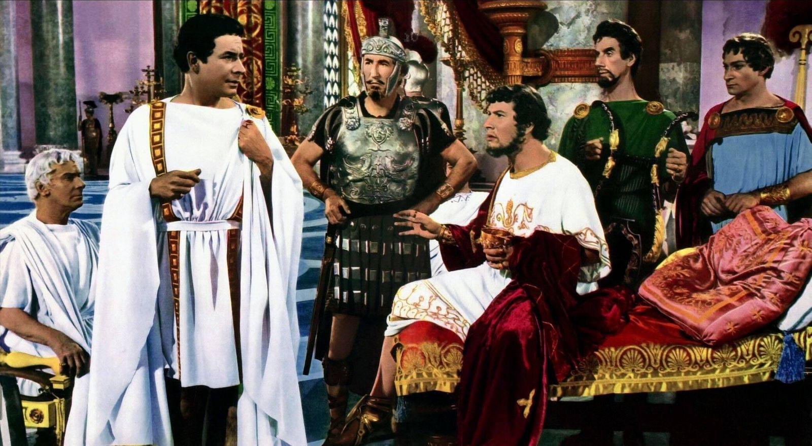 Leo Genn & Peter Ustinov Characters: Petronius & Nero Film: Quo Vadis (USA 1951) Director: Mervyn Leroy 23 February 1951