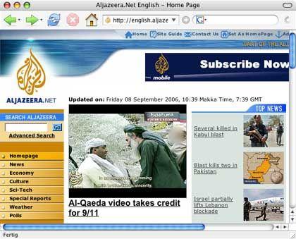 """Al-Dschasira-Video (Screenshot): """"Letzter Wille"""" der 9/11-Attentäter"""