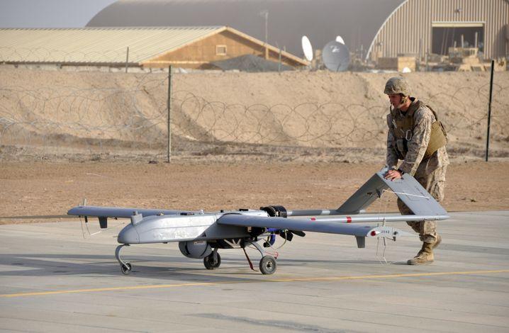 Unbemannte US-Drohne RQ-7B Shadow im November 2011 in Afghanistan