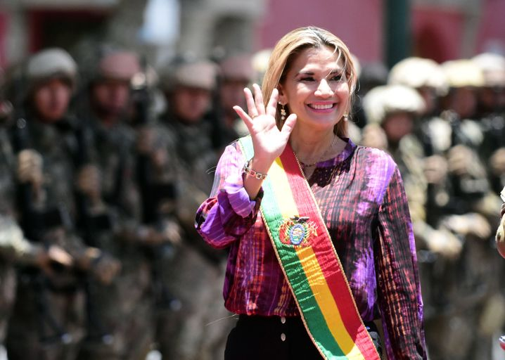Jeanine Añez, the vice president of the Senate, has been installed as Bolivia's interim president.