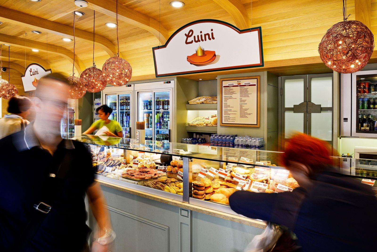 EINMALIGE VERWENDUNG Bäckerei Italien