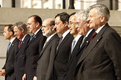 Ben Bernanke at the G7 meeting of central bank governors over the weekend.
