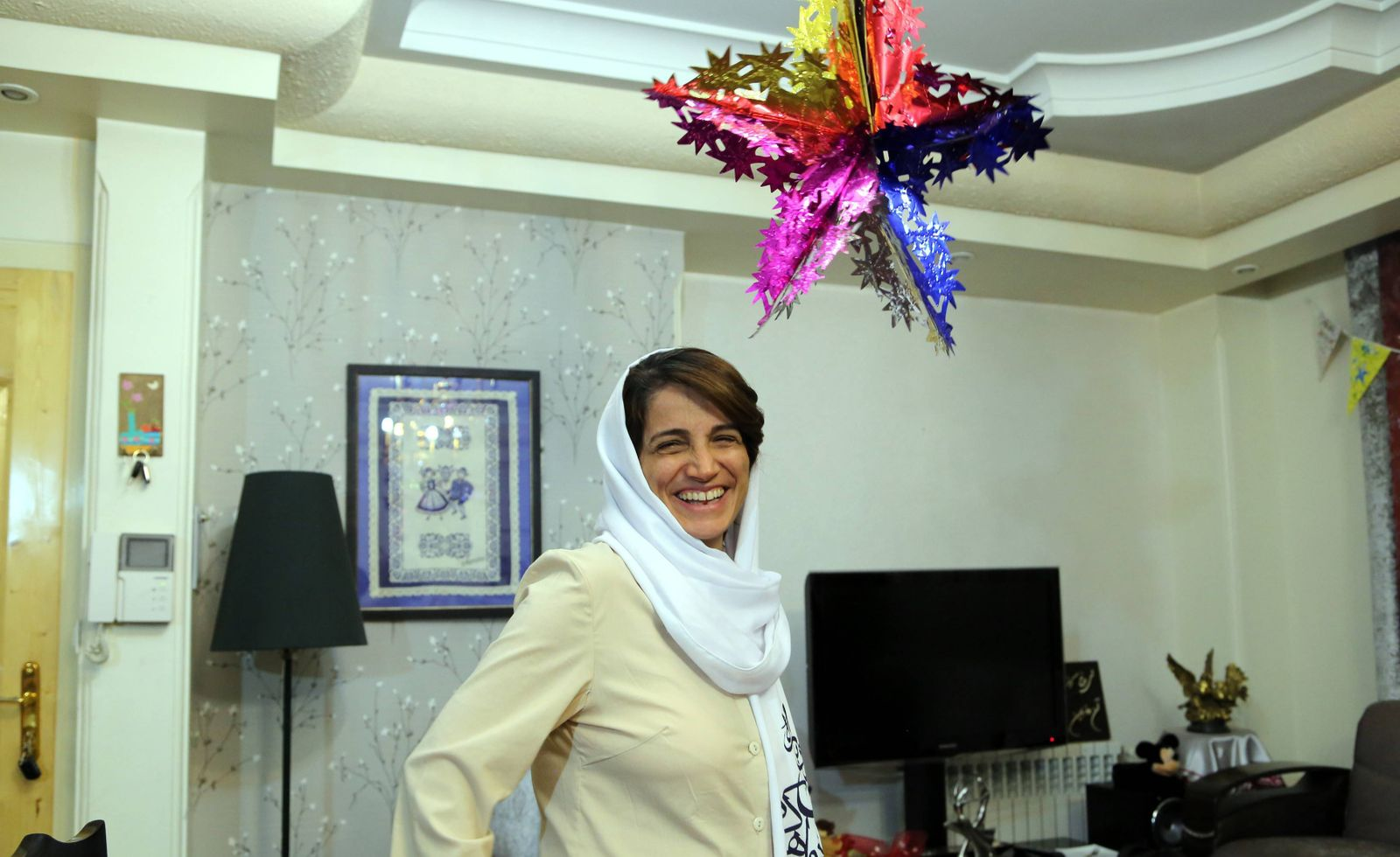Human rights activist Nasrin Sotudeh is seen in her house in Tehran Iran on September 18 2013 I