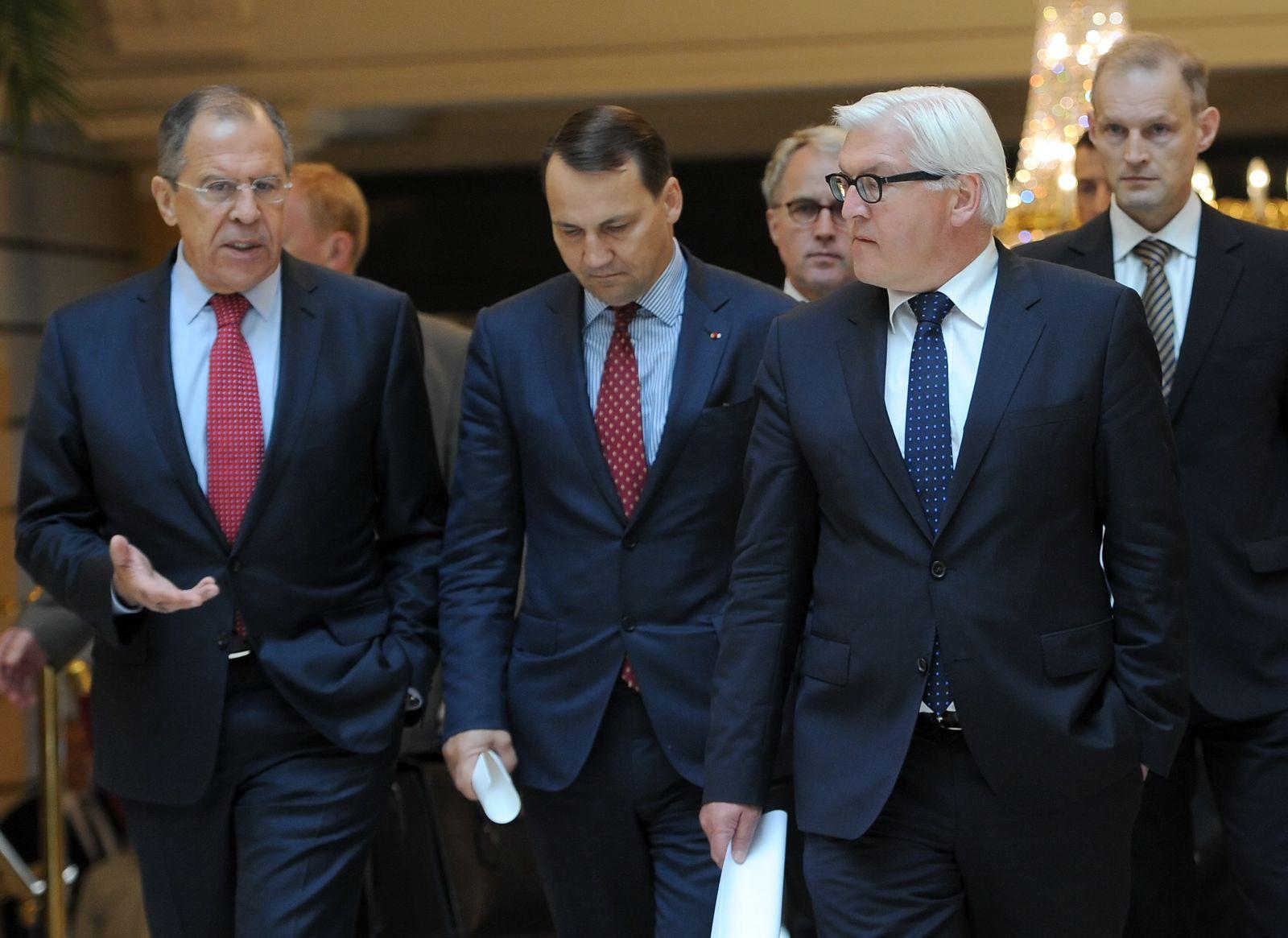Deutsch-russisch-polnisches Treffen / Steinmeier / Lawrow / Sikorski