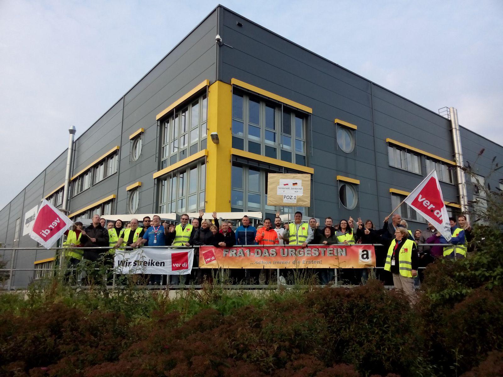 EINMALIGE VERWENDUNG Amazon Verdi Streik Bad Hersfeld
