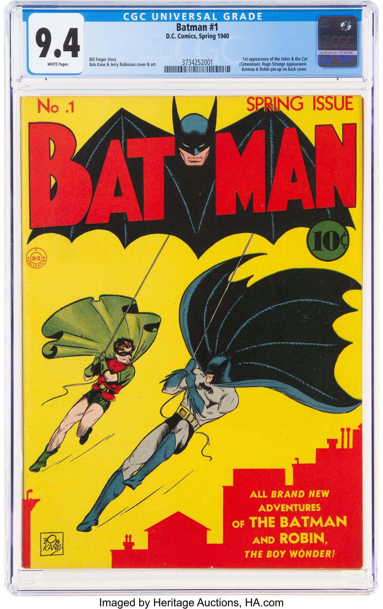 Batman-Comic von 1940 stellt bei Auktion einen Weltrekord auf