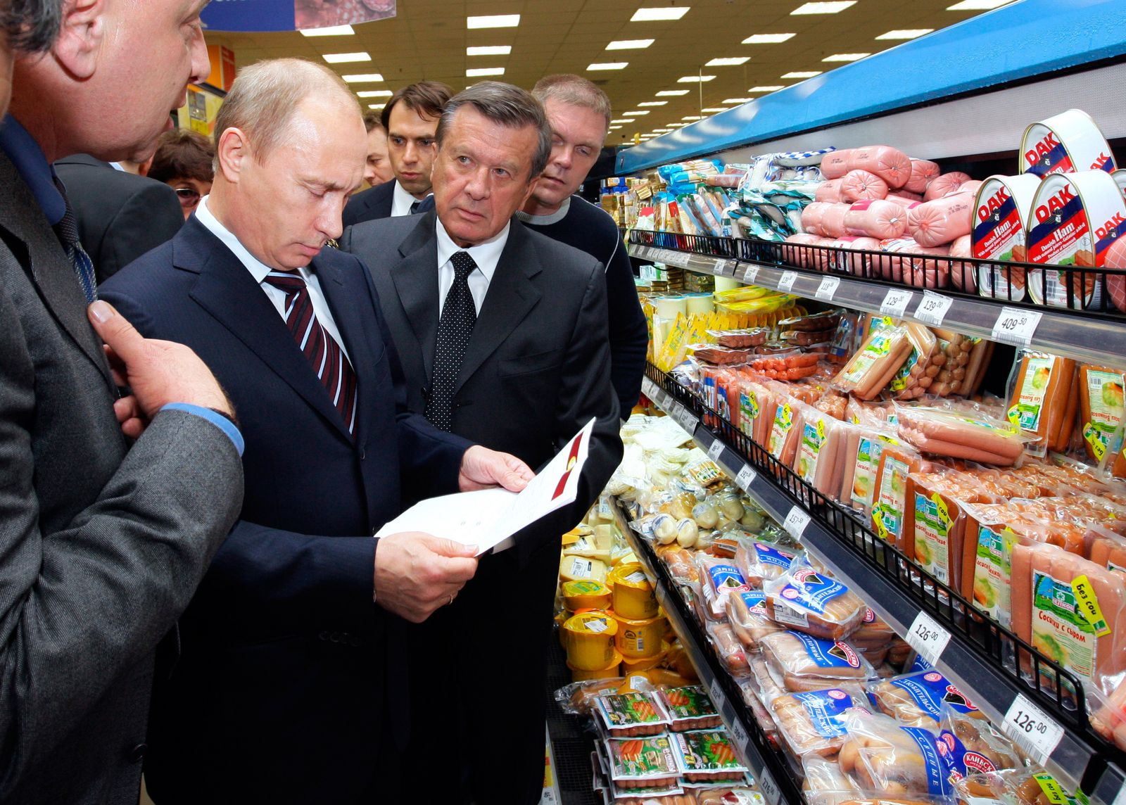 Putin / Supermarkt / Import