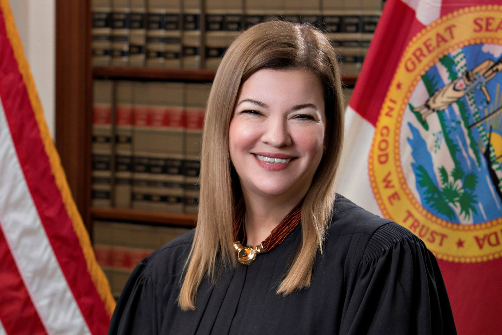 Florida Supreme Court Justice Barbara Lagoa poses in an undated photograph
