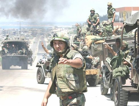 """Lebanese soldiers: """"They're cleaning up the terrorists."""""""