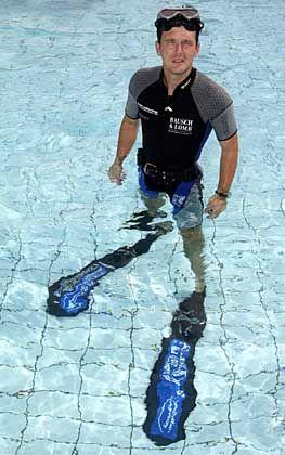 Schlaganfall unter Wasser: Apnoe-Taucher Benjamin Franz