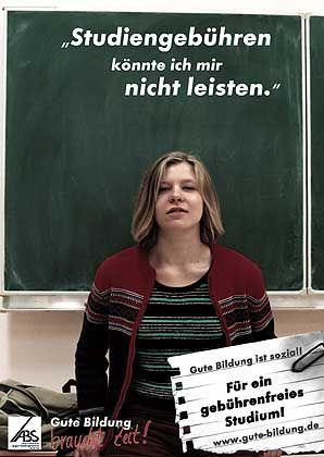 Kampagne von Studenten: Gegen jede Art von Gebühren