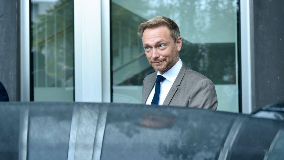 FDP-Chef Lindner am Tag nach der Bundestagswahl in Berlin