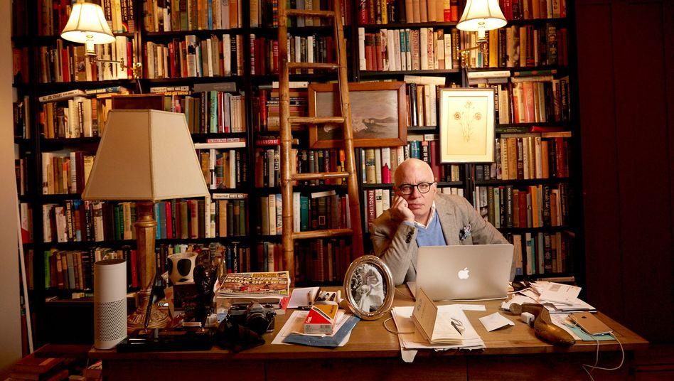 Michael Wolff in seinem Haus in Greenwich Village, New York