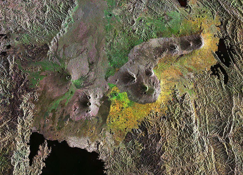 Satbild der Woche/ Virunga Mountains
