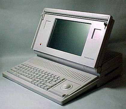 Das Macintosh Portable: Dank Blei-Säure-Akku nur für durchtrainierte Anwender empfehlenswert