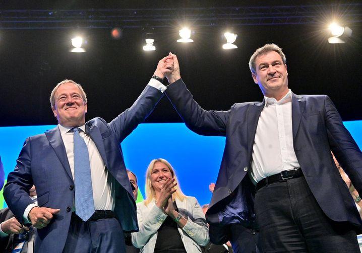 Geschwisterlich verbunden: Armin Laschet (l.) und Markus Söder