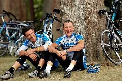 Hincapie und Armstrong: Müßiggang am Ruhetag