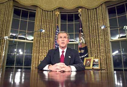 US-Präsident Bush im Oval Office (Archiv): Fehlalarm im Weißen Haus