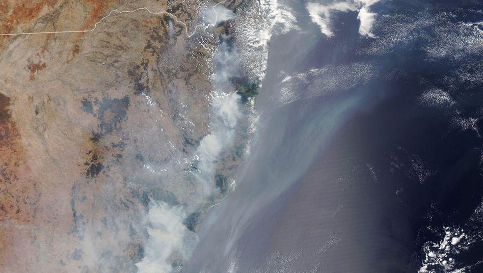 Nasa-Satellitenbild: Einige Brände lodern bereits seit Monaten