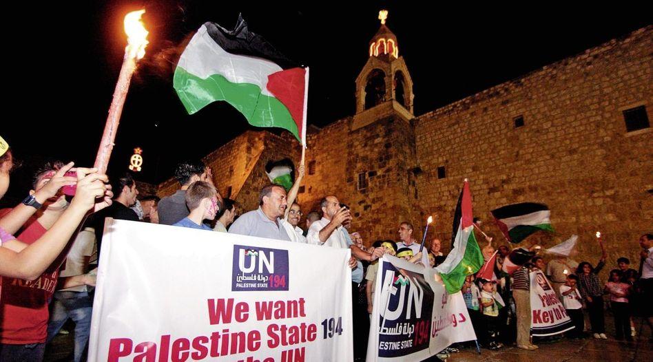 Palästinenser-Demonstration in Betlehem für einen Sitz bei den Vereinten Nationen: Panthersprung nach New York?