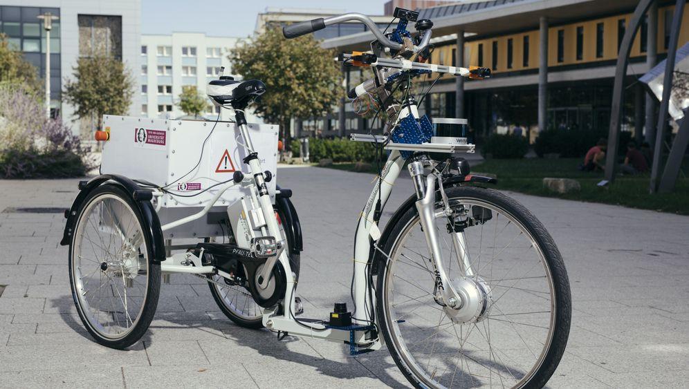 Innovation aus Magdeburg: Das autonome Fahrrad aus der Nähe