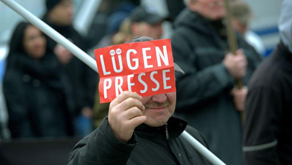 Demonstrant in Brandenburg