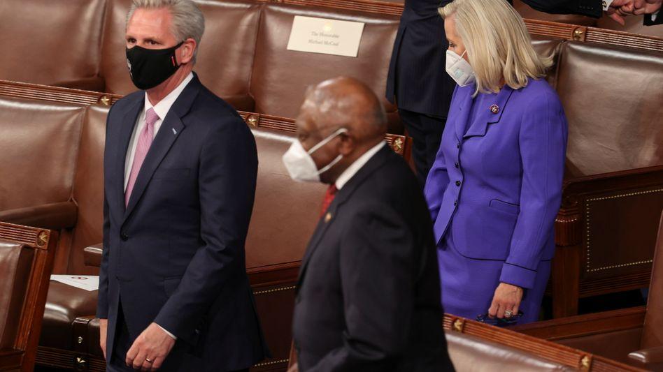 Kevin McCarthy (l.) und Liz Cheney (am 28. April)