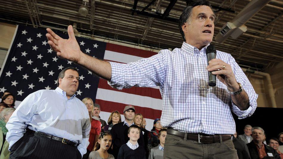 """Mitt Romney in Exeter, New Hampshire: """"Nicht ein weiterer Staat Europas werden"""""""