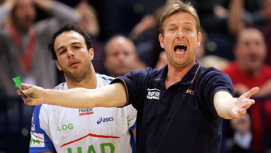Trainer beim Handballklub aus Hamburg: Martin Schwalb (rechts) im Jahr 2007