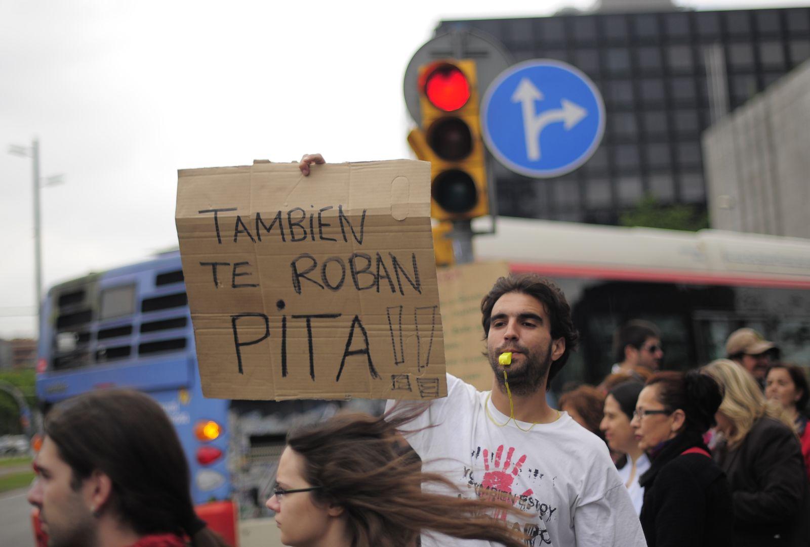 Spanien Bankenproteste