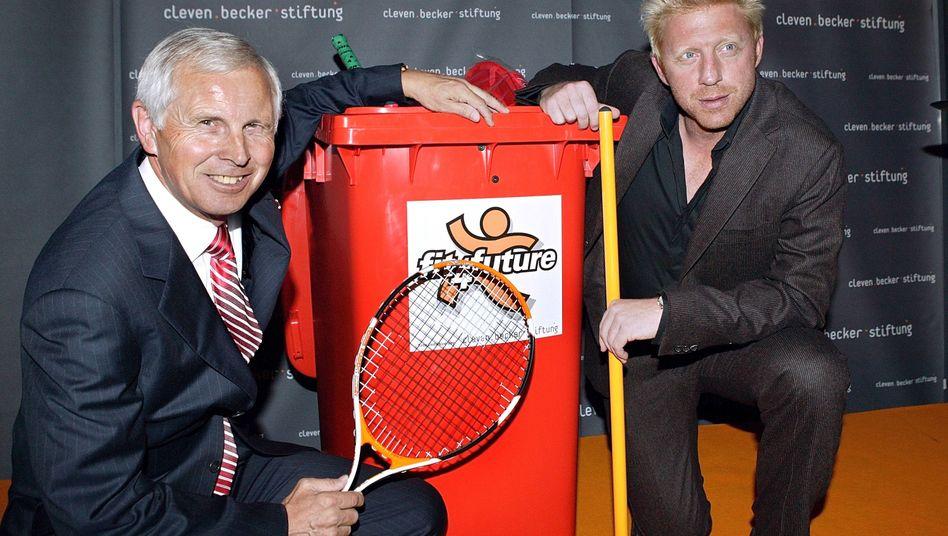 Hans-Dieter Cleven und Boris Becker 2005 in München