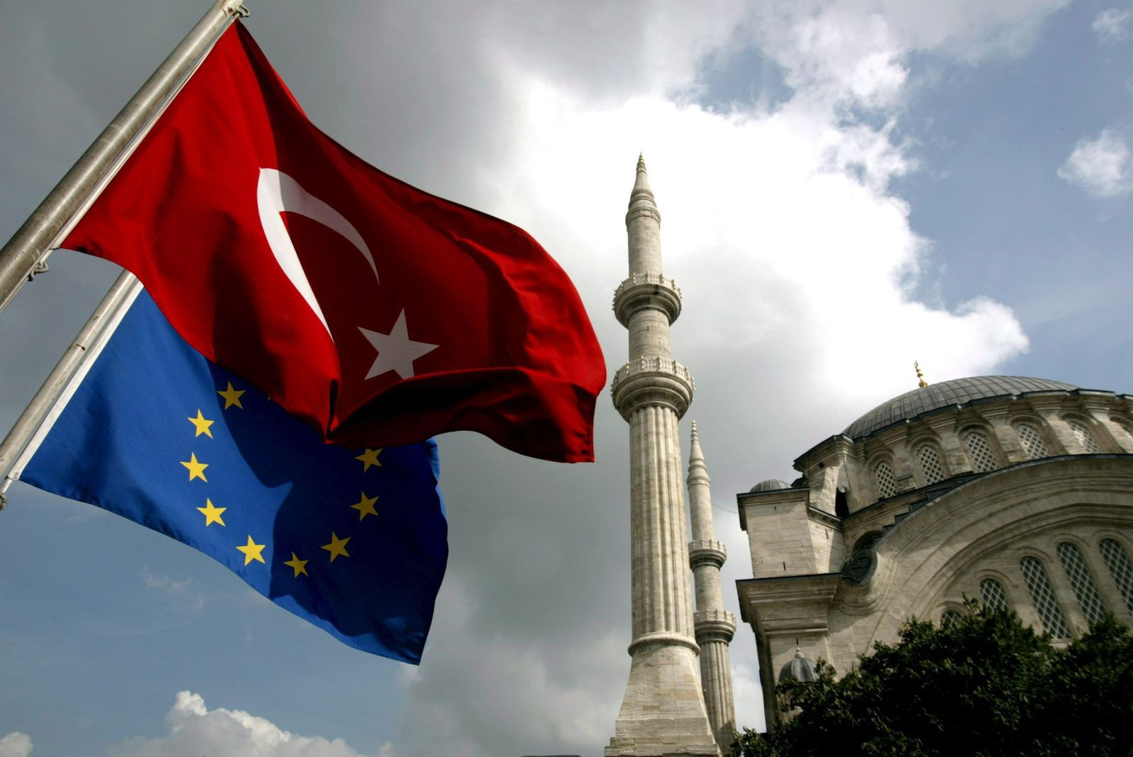 Flagge Türkei EU