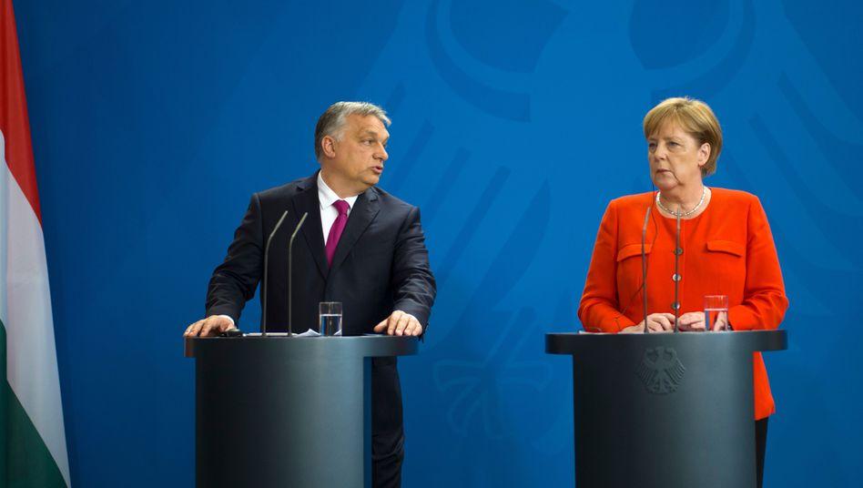 Orbán, Merkel (Archivbild)