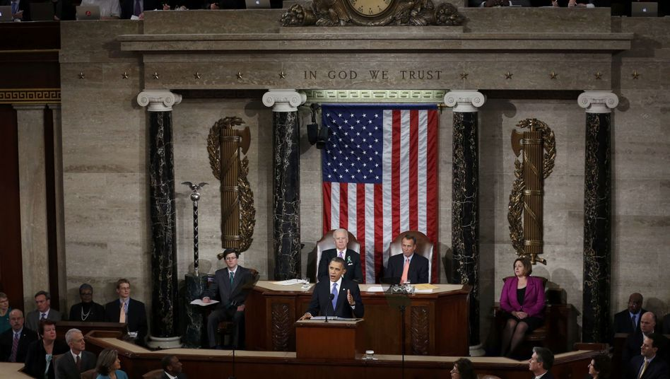 US President Barack Obama backed a trans-Atlantic free trade agreement during his State of the Union address on Tuesday.