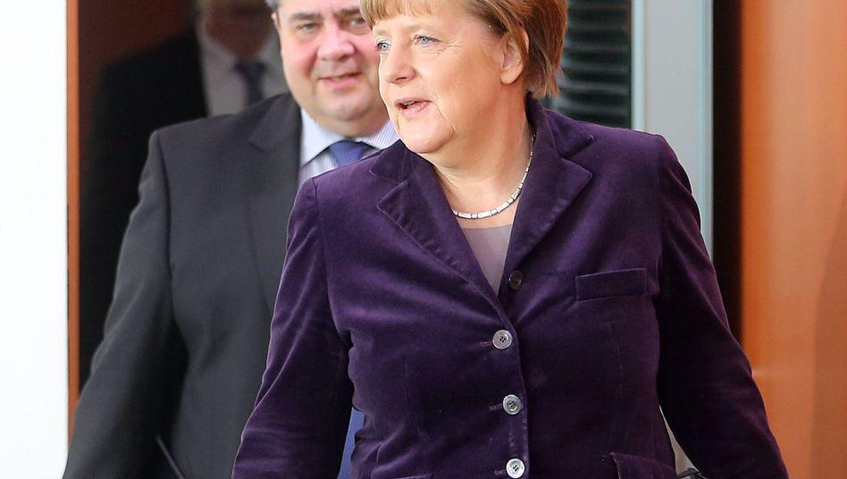 Kanzlerin Merkel und ihr Vize Gabriel: Das Vertrauen lässt nach