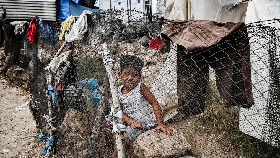 Flüchtlingskind auf der Insel Lesbos