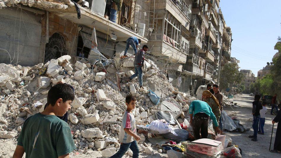 Zerstörtes Haus in Aleppo