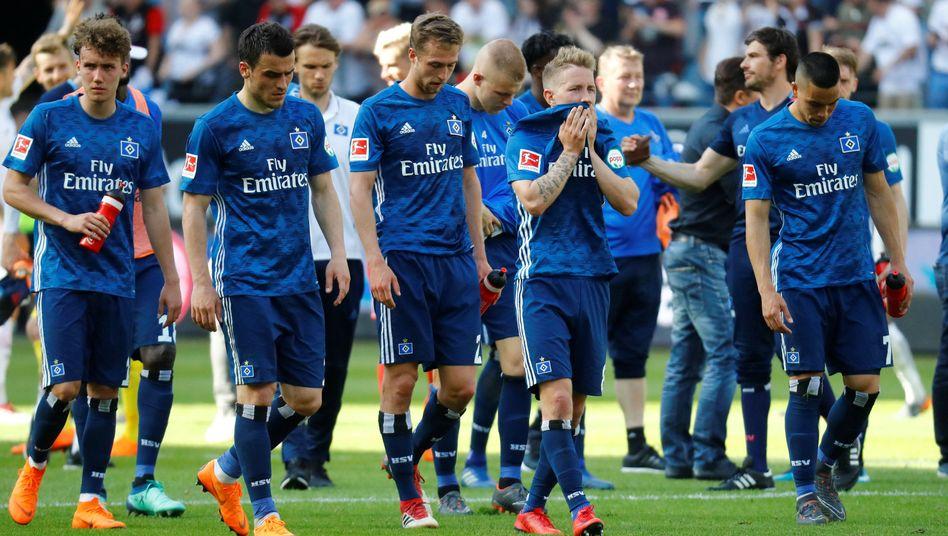 HSV-Spieler nach der Niederlage in Frankfurt