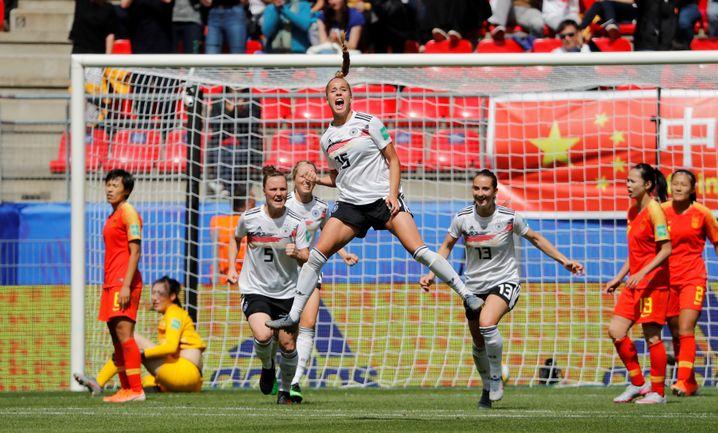 Siegtreffer beim 1:0 gegen China: Giulia Gwinn erzielte Deutschlands erstes Tor bei der WM in Frankreich