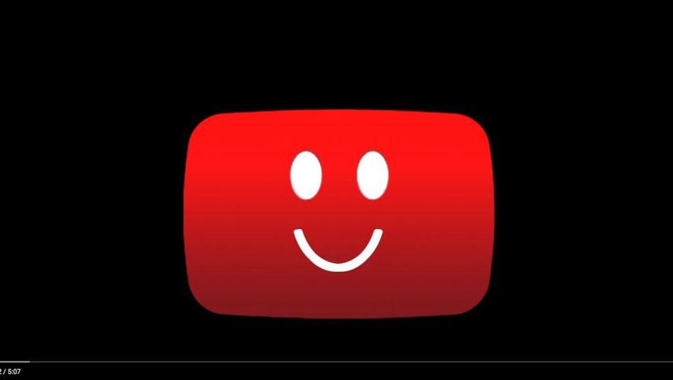 Hinweis auf der Plattform YouTube (Montage)