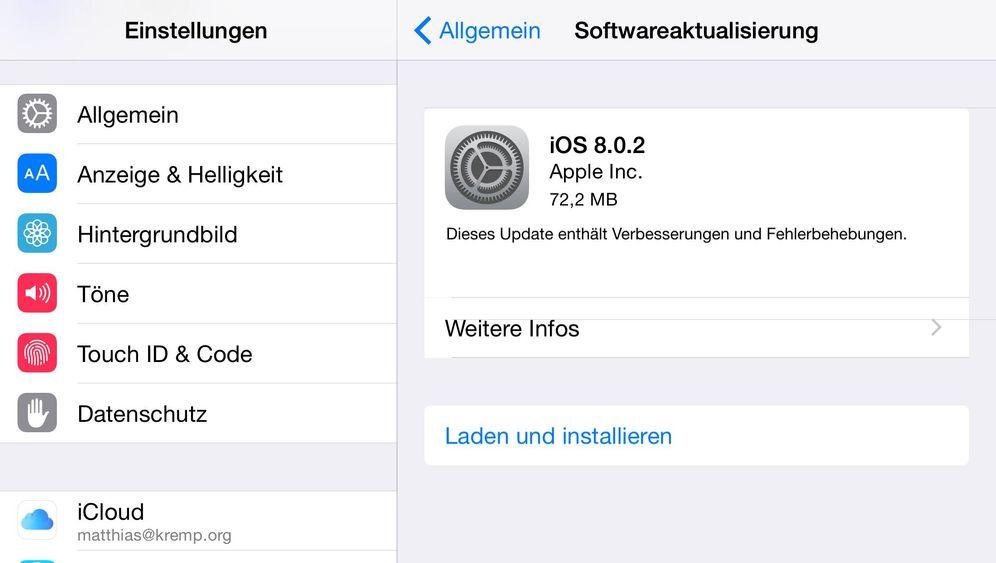 Fehlerbehebung: Das ist Apples Update auf iOS 8.0.2