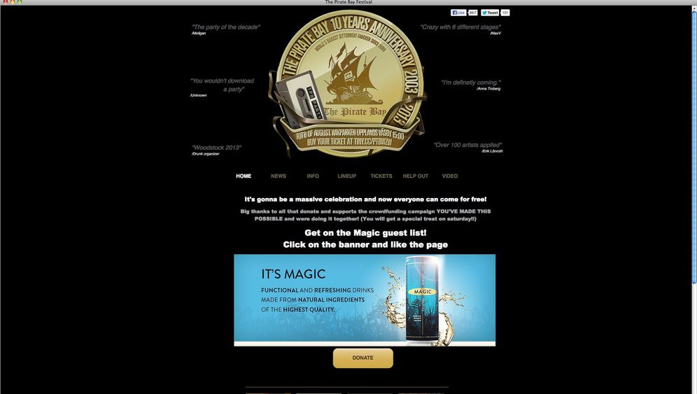 Filesharing: Zehn Jahre Pirate Bay